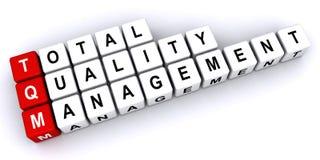 Umfassendes Qualitätsmanagement lizenzfreie abbildung