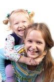 Umfassung mit zwei Schwestern Lizenzfreie Stockfotografie