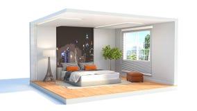 Umgebender Blitz Abbildung 3D Lizenzfreies Stockfoto