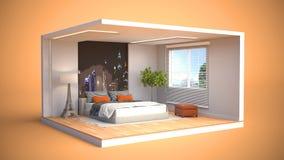 Umgebender Blitz Abbildung 3D Stockbilder