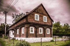 Umgebindehaus in Bohemen stock afbeeldingen