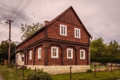 Umgebindehaus en Bohemia imagen de archivo libre de regalías