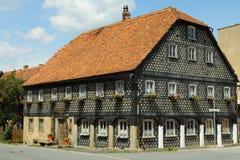 Umgebindehaus w Oberlausitz zdjęcia royalty free