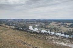 Umgebungen das Feriendorf Land nahe der Stadt von Izyum stockfoto