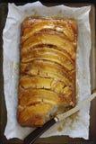 Umgedrehter Karamell-Bananen-Kuchen Stockbild