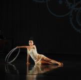 Umgekehrte Reflexion - Tanzmusical: Rote Linie stockbild