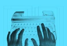 Umgekehrte Retro- Schreibmaschine lizenzfreies stockfoto