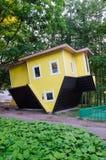 Umgekehrtes Haus in Druskininkai Stockbild