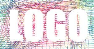 Umgekehrtes Logodesign, Kontrastzeichen, Regenbogennetz Stockfoto