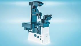 Umgekehrtes Mikroskop des modernen Mikroskops Stock Abbildung