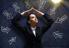 Umgekippte Geschäftsfrau Lizenzfreies Stockfoto