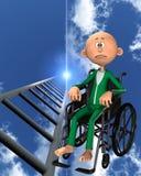 Umgekippter Mann im Rollstuhl Lizenzfreie Stockfotografie
