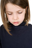 Umgekipptes junges Kind Stockfotografie