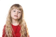 Umgekipptes kleines Mädchen Stockfotos
