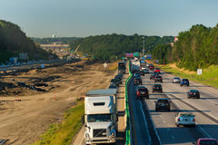 Umgeleiteter Verkehr stockfoto