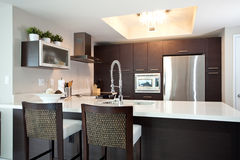 Umgestaltete Küche Stockbild