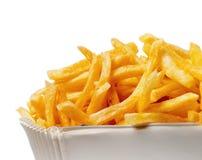 Umhüllung von Pommes-Frites stockfotos