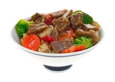Umhüllung von Rindfleisch teriyaki mit Gemüse Lizenzfreies Stockfoto