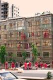 Umhüllungs-Ersatz, Baku Residence Building Fire Stockfoto