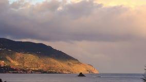 umhang Küste von Sizilien Italien, Zeitspanne 4K stock video footage