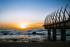 Umhlanga Durban Pier in the Sunrise Stock Photography