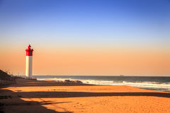 Umhlanga Lighthouse. On the Indian Ocean Shore in Durban, South Africa Stock Photo