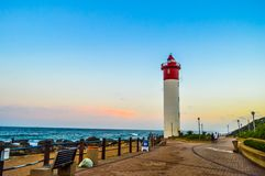 Umhlanga Lighthouse one of the world`s iconic lighthouses in Durban north KZN South Africa. Umhlanga Lighthouse one of the worl`d iconic lighthouses in Durban stock photos