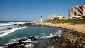 Umhlanga Lighthouse on a Perfect Day Stock Photography