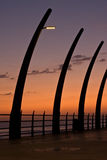Umhlanga Pier sunrise Stock Photography