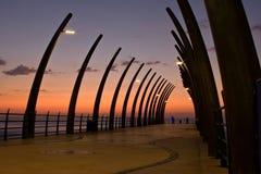 Umhlanga Pier sunrise Stock Image