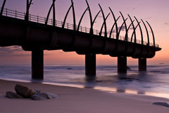 Umhlanga Pier sunrise Royalty Free Stock Photography