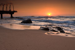 Umhlanga Pier sunrise Royalty Free Stock Photos