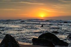 Umhlanga Rocks Beach at Sunrise Royalty Free Stock Image