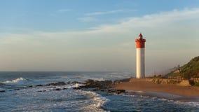 Umhlanga Rocks. Lighthouse seascape Hotel Royalty Free Stock Photos