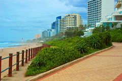 Umhlanga Rocks, South Africa. Beach in Umhlanga Rocks, Durban, South Africa royalty free stock images