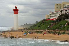 Umhlanga Rocks, South Africa. Promenade in Umhlanga Rocks not far from Durban, South Africa Stock Photos