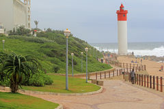 Umhlanga Rocks, South Africa. Promenade in Umhlanga Rocks not far from Durban, South Africa Royalty Free Stock Images
