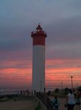 Umhlanga schaukelt Leuchtturm Stockfotografie