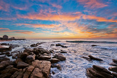 Umhlanga sunrise clouds colour, South Africa Royalty Free Stock Photography