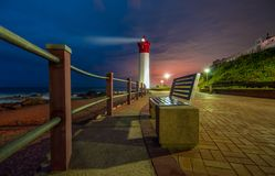 Umhlangavuurtoren in Durban Zuid-Afrika royalty-vrije stock foto's