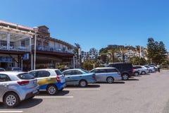 Umhloti沿海海滩前的风景德班南非 免版税库存照片