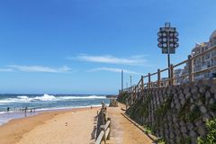 Umhloti沿海海滩前的风景德班南非 库存照片