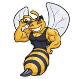 Umi??niona pszczo?y maskotka obrazy royalty free