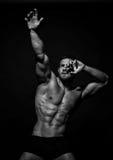 Umięśniony samiec model Konstantin Kamynin zdjęcia stock