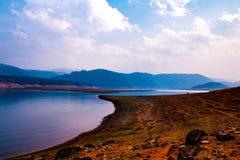 Umiam湖,西隆,东部Khasi小山,梅加拉亚邦 免版税库存图片