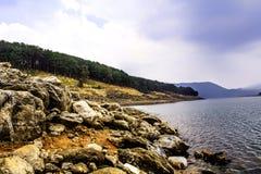 Umiam湖,西隆 免版税图库摄影