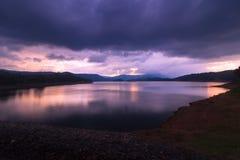 Umiam湖Barapani湖,西隆,梅加拉亚邦,印度,亚洲 库存图片