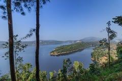 Umiam jezioro, Shillong, Meghalaya, India, Azja (Barapani jezioro) zdjęcie stock