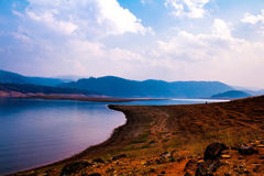Umiam jezioro, Shillong, Wschodni Khasi wzgórza, Meghalaya obrazy royalty free