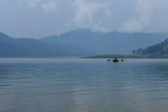 Umiam sjö (Barapani sjön), Shillong, Meghalaya, Indien, Asien Arkivbild